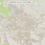 Moreno Valley California Us City Street Map Poster