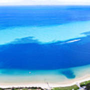 Moreton Island Aerial View Poster