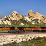 Mormon Rocks California Poster