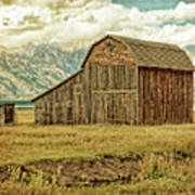 Mormon Row Barn No 3 Poster