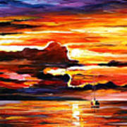 Morning After The Storm - Palette Knife Oil Painting On Canvas By Leonid Afremov Poster