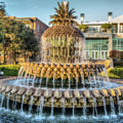 Morning At Pineapple Fountain Poster