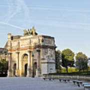 Morning At The Arc De Triomphe Du Carrousel  Poster
