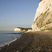 Morning At The White Cliffs Of Dover Poster