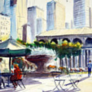 Morning, Bryant Park  Poster