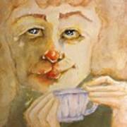 Morning Coffee Girl Poster