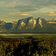 Morning Dawns On The Tetons Poster