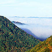 Morning Fog At Sunrise In Autumn Poster