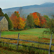 Morning Grove - New England Fall Monadnock Farm Poster