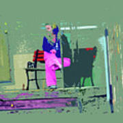 Morning In Her Pink Pajamas Poster by Lenore Senior