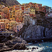 Morning In Manarola Cinque Terre Italy Poster