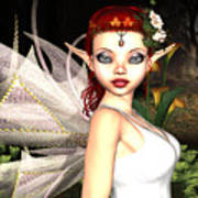 Morning Lily Fairy Poster