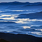 Morning Mist In The Smokies Poster