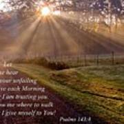 Morning Psalms Scripture Photo Poster