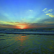 Morning Sea Foam Poster