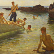 Morning Splendour Poster by Henry Scott Tuke