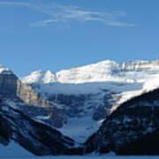 Morning Sunshine Kisses Snowy Peaks Poster