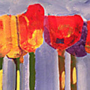 Morning Tulips Poster