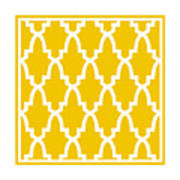 Moroccan Arch With Border In Mustard Poster