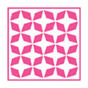 Moroccan Inlay With Border In French Pink Poster