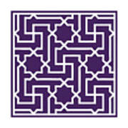 Moroccan Key With Border In Purple Poster