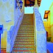 Moroccan Staircase Poster