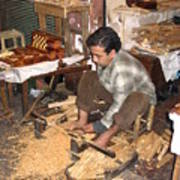 Moroccan Woodturner Poster