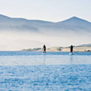 Morro Bay Paddle Boarders Poster