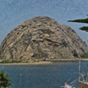 Morro Rock California Painting Poster