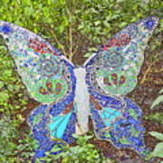 Mosaic Butterfly Poster
