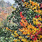 Mosaic Foliage Poster