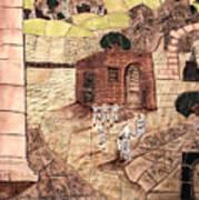 Mosaic Images At Petra Poster