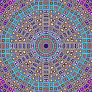 Mosaic Kaleidoscope  Poster