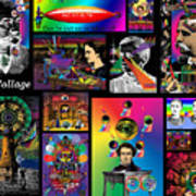Mosaic Of Retrocollage I Poster
