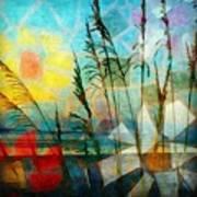 Mosaic Sea Oats Poster