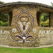 Mosaic Stone Bandstand In Anacortes Poster