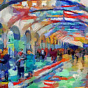 Moscow Metro Station Poster