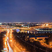 Moscow Night Panorama Poster