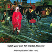 Moscow Street Of 17th Century Poster