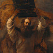 Moses With The Ten Commandments Poster
