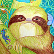 Mossy Sloth Poster