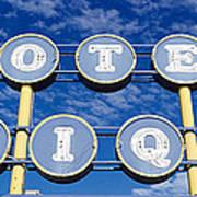 Motel Unique Sign Seligman Az Poster