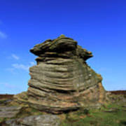 Mother Cap Gritstone Rock Formation, Millstone Edge Poster