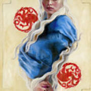 Mother Of Dragons Poster by Denise H Cooperman