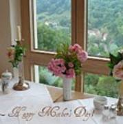 Mother's Day Card - German Cafe Poster