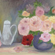 Mother's Roses Poster by Shirley Lawing