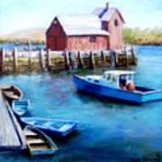 Motif One Rockport Harbor Poster by Jack Skinner