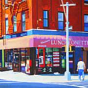 Mott Street Poster by John Tartaglione