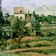 Moulin De La Couleuvre At Pontoise Poster by Paul Cezanne