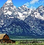 Moulton Barn At Mormon Row Inside Grand Teton National Park Poster